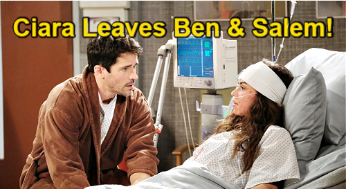Days of Our Lives Spoilers: Ciara Leaves Ben & Salem, Finds Hope Off Canvas – Amnesia Twist Changes Future?