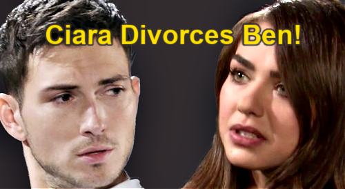 Days of Our Lives Spoilers: Ciara Pushes for Ben Divorce – Exits Salem Without Romantic Memories?