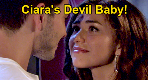Days of Our Lives Spoilers: Ciara's Pregnancy Brings Devil Baby – Ben's Worst Nightmare?