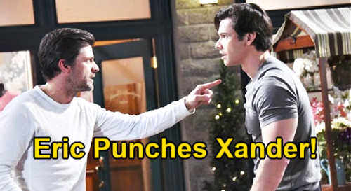 Days of Our Lives Spoilers: Eric Punches Xander Over Cheating Confession – Old Enemy Pays for Taking Nicole to Bed