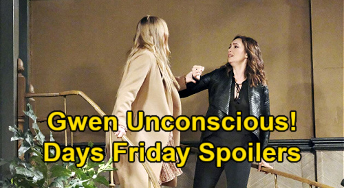 Days of Our Lives Spoilers: Friday, April 30 – Abigail's Staircase Assault, Gwen Unconscious after Fall – Kate Dumps Jake