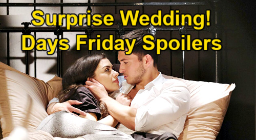 Days of Our Lives Spoilers: Friday, August 20 – Ben & Ciara's Spontaneous Wedding – Claire & Theo Exit