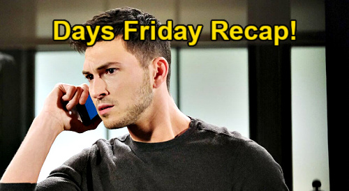 Days of Our Lives Spoilers: Friday, February 12 Recap - Charlie & Ava Scuffle - Kate Tanks Vivian's Insanity Defense