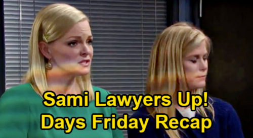 Days of Our Lives Spoilers: Friday, February 26 Recap - Ava's Glad Charlie's Dead - Susan's Baby Slip - Sami Lawyers Up