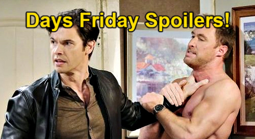 Days of Our Lives Spoilers: Friday, March 19 – Xander Demands Cheating Answers – Sarah's Escape Foiled – Jake Suspects Gabi