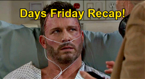 Days of Our Lives Spoilers: Friday, May 14 Recap – Chloe Bound & Gagged for Transport – Jake's Discovery – Nicole's Cover Story