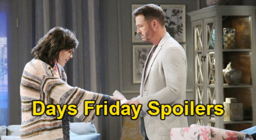 Days of Our Lives Spoilers: Friday, May 7 – Sami Masquerades as Male Dr. Stan – Tripp Stuns Claire – Kate Fights Injection