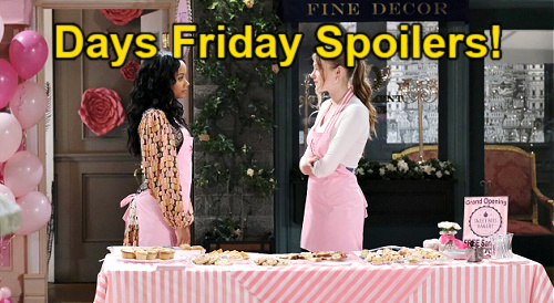 Days of Our Lives Spoilers: Friday, September 10 – Chad's Plea to Abigail in Boston – Allie & Chanel's Grand Opening Surprises
