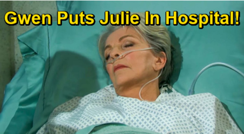 Days of Our Lives Spoilers: Julie's Hospital Emergency After Gwen Loses Control – Drugging Culprit Exposure Gets Wild?