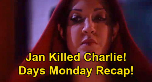 Days of Our Lives Spoilers: Monday, April 19 Recap – Jan Confirmed as Charlie's Killer – Handcuffed Belle Under Arrest