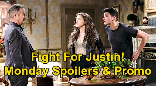 Days of Our Lives Spoilers: Monday, July 12 – Ben & Ciara Fight For Justin – Bonnie's Proposal – Theo's Bomb for Chad