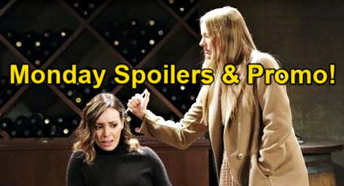 Days of Our Lives Spoilers: Monday, March 8 – Abigail Threatens Gwen with Syringe – Ava Visits Henry – Belle Blasts Lying Sami