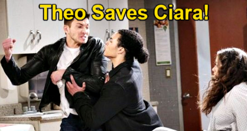 Days of Our Lives Spoilers: Theo Saves Ciara from Ben - Hero Stops Memory Serum Injection