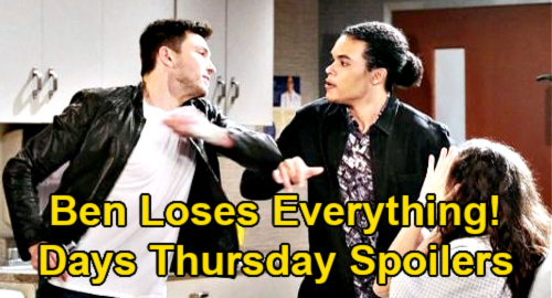 Days of Our Lives Spoilers: Thursday, April 15 – Ben Loses Ciara to Theo After Syringe Rescue - Jake Jealous as Gabi Moves On