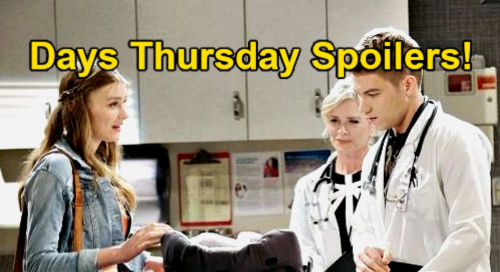 Days of Our Lives Spoilers: Thursday, April 29 – Tripp Helps Hospitalized Henry – Gwen's Baby Crisis - Kristen Hides From Chad