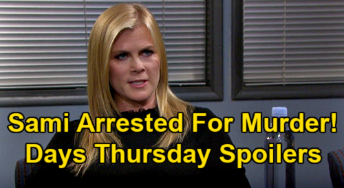 Days of Our Lives Spoilers: Thursday, February 25 – Sami Returns, Accused of Charlie's Murder – Ciara New Dream Message for Ben