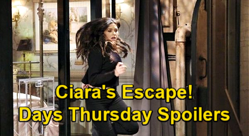 Days of Our Lives Spoilers: Thursday, February 4 – Ciara Tricks Rhodes with Escape – Ben's Message From Susan