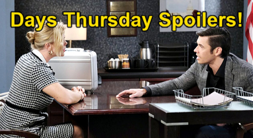 Days of Our Lives Spoilers: Thursday, July 15 – Sami Tempts Xander – Eric Suspects Nicole's Secret – Lucas Blabs to Philip