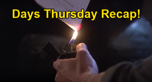 Days of Our Lives Spoilers: Thursday, June 17 Recap – Ben Burns Divorce Papers, Vows to Fight for Ciara