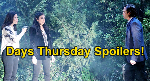 Days of Our Lives Spoilers: Thursday, June 3 – Ben Battles Flames to Save Claire – Chloe & Jan Gun Struggle – Philip's Rescue