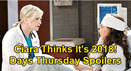 Days of Our Lives Spoilers: Thursday, March 18 – Ciara Thinks It's 2018 - Sarah Sleeps with Rex – Xander Rages – Bonnie Mystery
