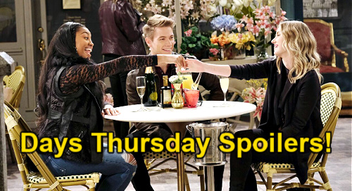 Days of Our Lives Spoilers: Thursday, March 25 – Ciara Hears Ben's Marriage Love Story – Chanel Tricks Claire & Tripp