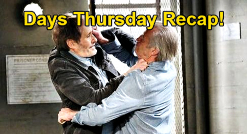 Days of Our Lives Spoilers: Thursday, March 4 Recap - Clyde Stabs Orpheus - Ben & Ciara Share Vision - John Remembers Gunshot