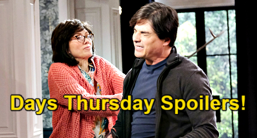 Days of Our Lives Spoilers: Thursday, May 13 – Kate Barges In On Jake & Gabi in Bed – Kristen Attacks Lucas – Nicole Wakeup Call