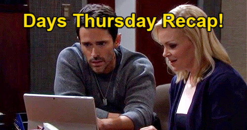 Days of Our Lives Spoilers: Thursday, May 6 Recap – Jan on Security Film, Valentine's Day Evidence – Allie Misses Wild London Past
