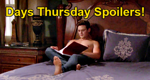 Days of Our Lives Spoilers: Thursday, September 16 – Will Gives Johnny Sami Script – Doug's Mental Tests – Paulina Confesses