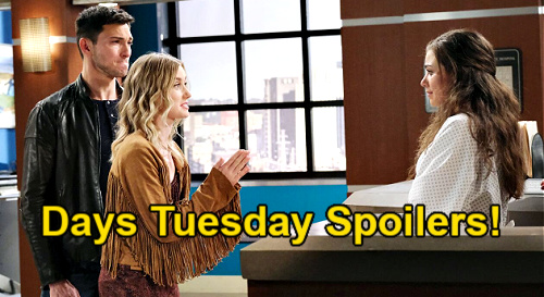Days of Our Lives Spoilers: Tuesday, April 6 – Ciara Hypnosis Disaster - Chanel Asks to Live with Theo – Xander's Drinking Buddy