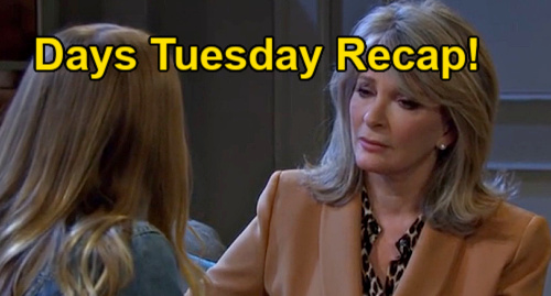 Days of Our Lives Spoilers: Tuesday, August 24 Recap – Chanel Bails on Johnny in the Bedroom – Paulina to Take Secret to Grave
