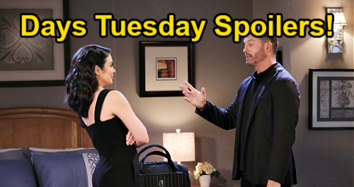 Days of Our Lives Spoilers: Tuesday, August 31 – Ben & Ciara Head to New Orleans – Brady & Chloe Stranded at Motel