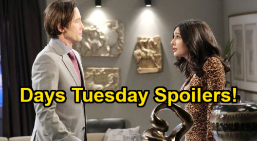 Days of Our Lives Spoilers: Tuesday, February 23 – Charlie Grabs Claire – Sarah's Bomb for Xander – Gabi Gets Wish