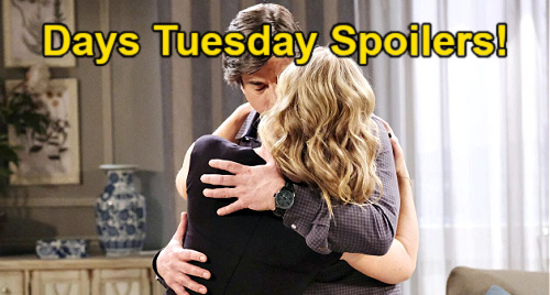 Days of Our Lives Spoilers: Tuesday, June 15 – Tony's Proposal for EJ - Chad Confronts Kate – Marlena Sees Sami & Lucas' Spark