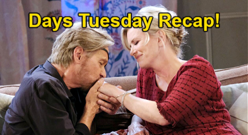 Days of Our Lives Spoilers: Tuesday, May 25 Recap – Sami Fears EJ's Visit - Ben's Necklace Clue – Jan & Claire Hit the Road