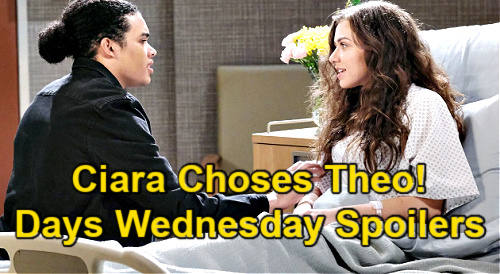 Days of Our Lives Spoilers: Wednesday, April 21 – Ben Confesses to Claire – Ciara Chooses Theo – Abigail's Baby Breakdown