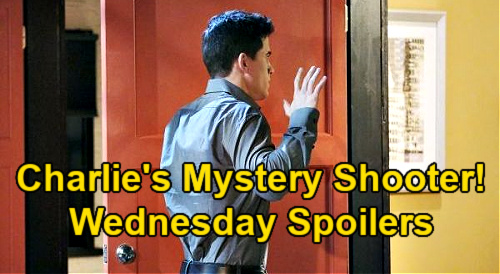 Days of Our Lives Spoilers: Wednesday, February 24 – Mystery Shooter at Charlie's Door – Tripp's Big Henry News for Steve