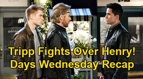 Days of Our Lives Spoilers: Wednesday, February 24 Recap - Tripp Fights Over Henry - Allie Ready To Shoot - Charlie At Gunpoint