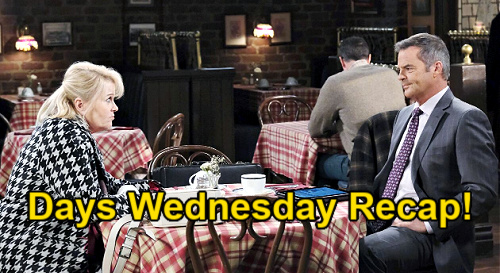 Days of Our Lives Spoilers: Wednesday, January 13 Recap - Gwen Tells Abigail She Slept With Hubby - Kate Sets Chad Straight