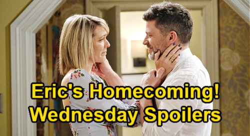 Days of Our Lives Spoilers: Wednesday, July 14 – Eric's Surprise Homecoming – Gabi & Jake's New Scheme – Brady Threatens Xander