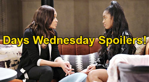 Days of Our Lives Spoilers: Wednesday, May 5 – Jan Vows to Be Shawn's Wife, Claire Overhears – Chanel Is Lani & Eli's New Roomie