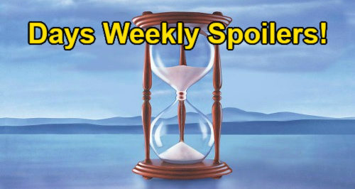 Days of Our Lives Spoilers: Week of August 30 – Chloe & Brady Busted in Bed - Ben & Ciara's  Honeymoon – John's ISA Mission
