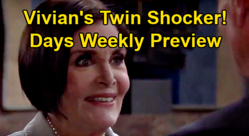 Days of Our Lives Spoilers: Week of February 1 Preview - Ciara's Big Escape - Vivian Dotes On Twins - Jake & Gabi Spark Ignites