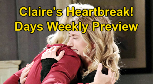 Days of Our Lives Spoilers: Week of January 11 Preview - Abigail Slugs Gwen, Rages at Chad - Claire's Shame & Heartbreak