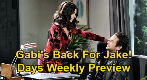 Days of Our Lives Spoilers: Week of January 18 Preview - Gabi Returns For Jake - Gwen's Secret Revealed - Allie Hypnosis Horror