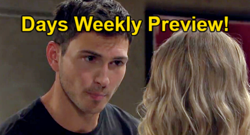 Days of Our Lives Spoilers: Week of July 19 Preview – EJ's Cheating Meltdown – Eric Attacks Xander – Ben Blocks Ciara Marriage