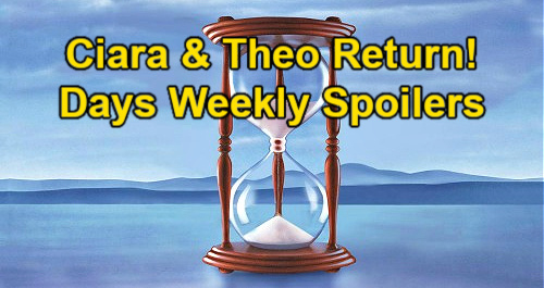 Days of Our Lives Spoilers: Week of June 28 – Ciara Returns – Theo Surprise Party Guest – Horrifying Day at the Lake