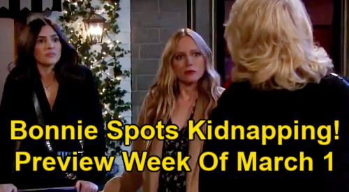 Days of Our Lives Spoilers: Week of March 1 Preview - Bonnie Catches Gabi & Abigail Kidnapping Gwen - Sami's Prints On Gun