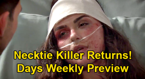 Days of Our Lives Spoilers: Week of March 15 Preview – Ciara Wakes Up to Ben Necktie Killer - Kristen Steals Sarah's Wedding